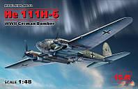 1:48 Сборная модель самолета He 111H-6, ICM 48262