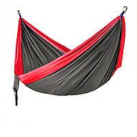 Гамак Meibony Outdoor Double Camping Hammock Подвесной двухместный гамак для кемпинга, 300 кг, Серый(SUN0359)
