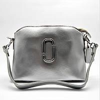 Женская сумочка через плечо из натуральной кожи серебристого цвета ENY-004922, фото 1