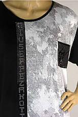 Жіноча футболка  великого розміру з принтом Giuseppe Zanotti, фото 2