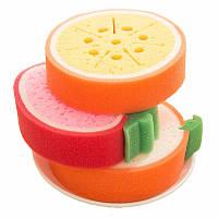 Губки-фрукты для кухни . Набор 3шт., фото 1