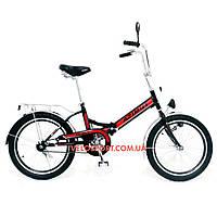 Складной велосипед Azimut 20 2009-1 Фара черно-красный