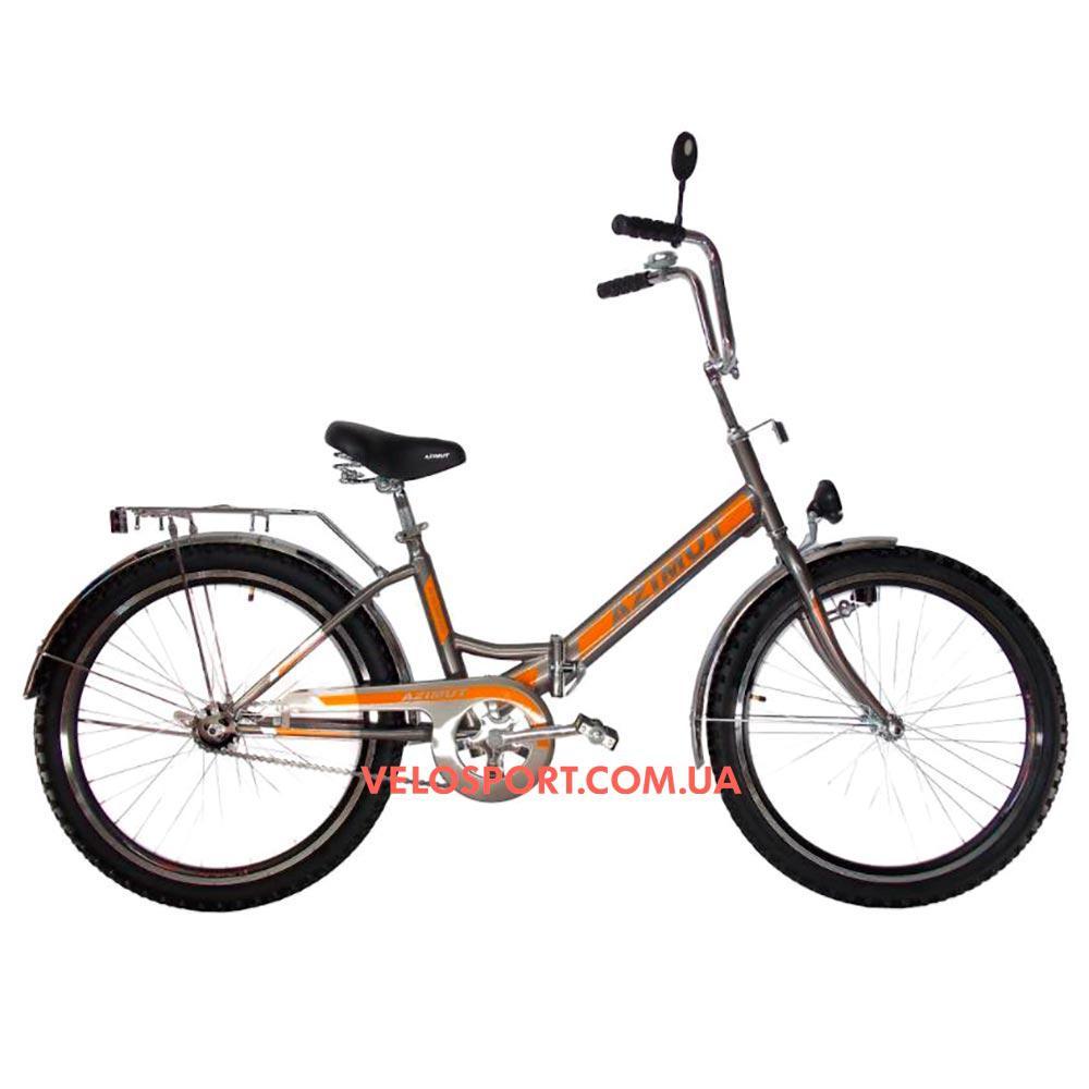 Складной велосипед Azimut 24 2409-1 Фара серый