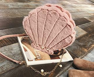 Пудровая сумочка Ракушка