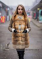 Меховая жилетка из рыжей лисы, производство Украина