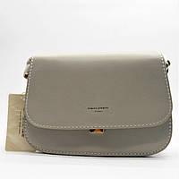 Модная женская сумочка на плечо DAVID DJONES темно-бежевого цвета JJM-639183 (реплика), фото 1