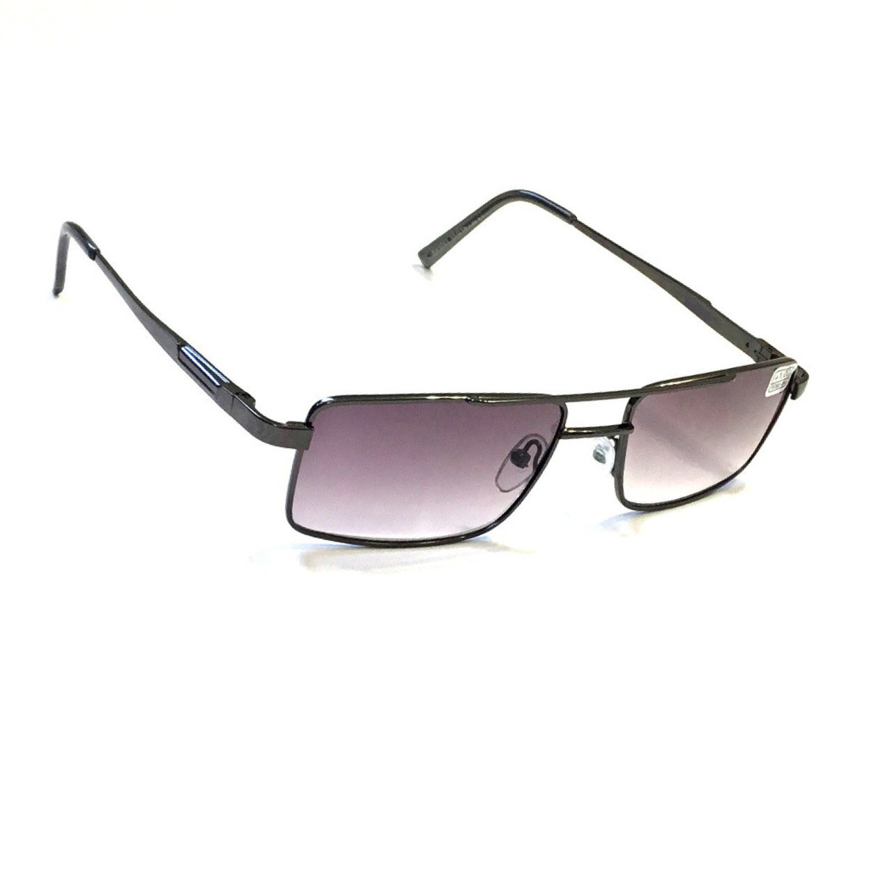 Мужские очки в металлической оправе с тонированной линзой