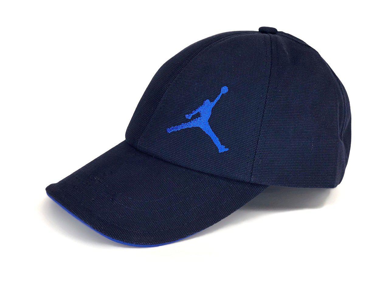 Бейсболка кепка Jordan, синяя, лого синий вышито слева, фото 1