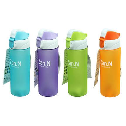 Пластиковая спортивная бутылка Дзен, 400 мл, фото 2