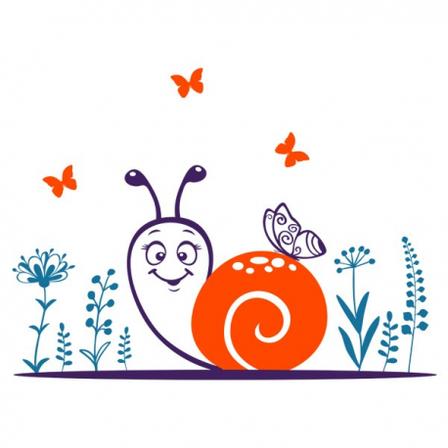 Интерьерная наклейка детская Snail, фото 2
