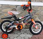 Детский велосипед Azimut Stitch 12 дюймов серый, фото 6