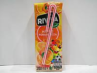 Детский cоковый напиток Riviva (апельсиновый), 200мл, фото 1