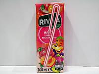 Детский cоковый напиток Riviva (яблочно-абрикосовый), 200мл