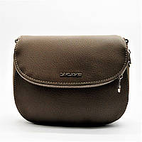 Женская полукруглая сумочка коричневого цвета XRK-976200, фото 1