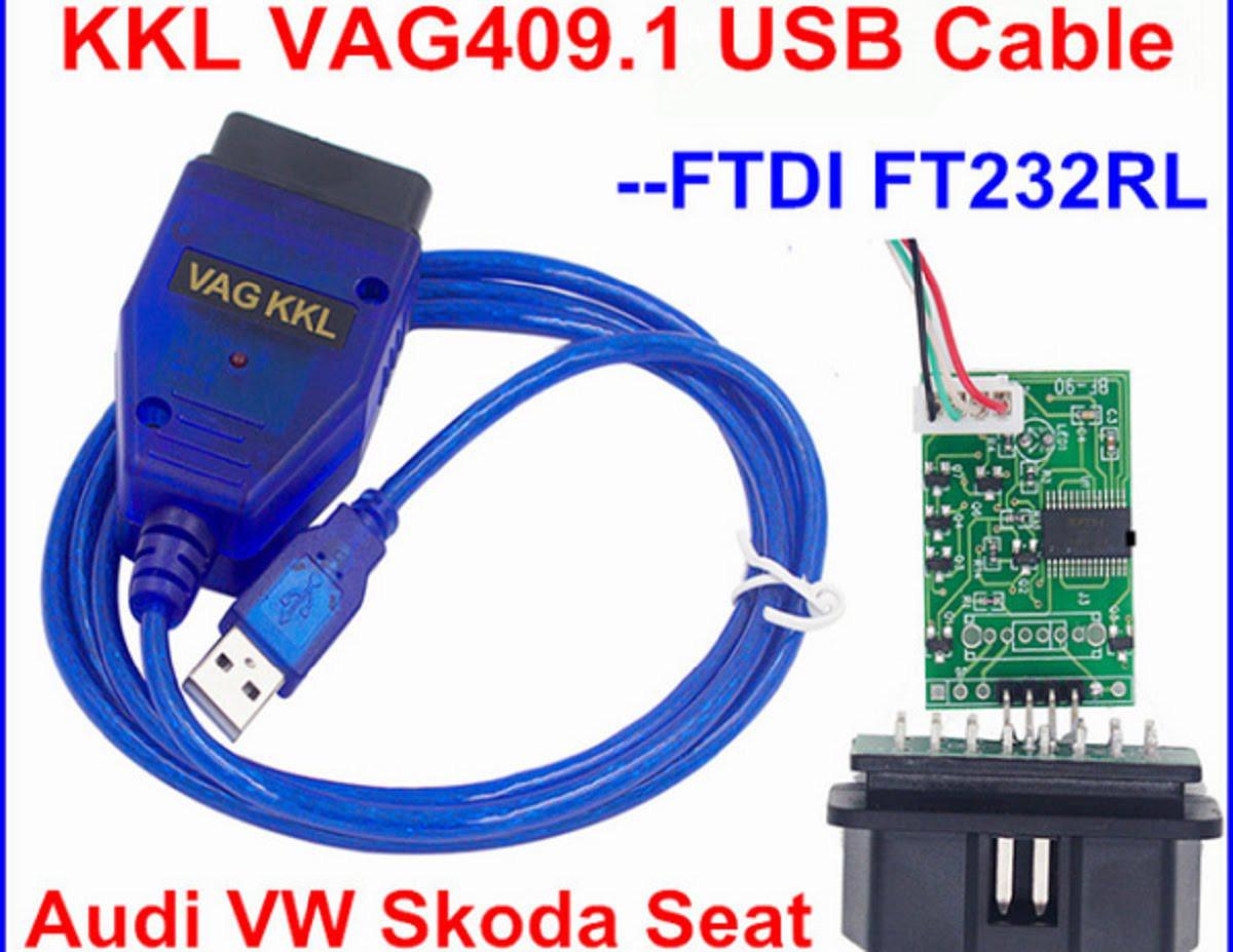 Адаптер диагностический VAG-COM 409.1 USB VAG COM на чипе FTDI VAG, ВА