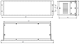 Корпус металевий Rack 3U, модель MB-3160vSP (Ш483(432) Г162 В132) чорний, RAL9005(Black textured), фото 4