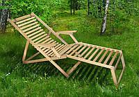 Шезлонг Пикник с подножкой бук/цвет дуб ММ , фото 1