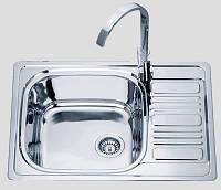Мойка кухонная из нержавеющей стали Platinum 6950 0,8/180 Декор
