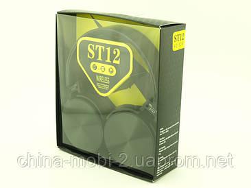 Wireless MDR ST12 Headphones репліка Sony bluetooth навушники - гарнітура з FM MP3, чорні