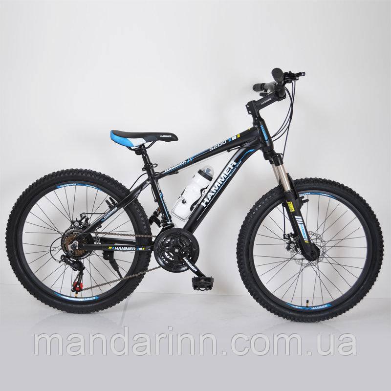 """Горный велосипед 24"""" HAMMER Черно-Синий (black-blue)"""