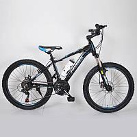 """Горный велосипед 24"""" HAMMER Черно-Синий (black-blue), фото 1"""