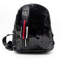 Превосходный женский рюкзак черного цвета EEO-500009, фото 1