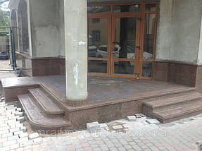 "Облицовка фасада. Гранит ""Межеричка"" 3"