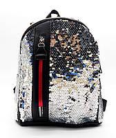 Превосходный женский рюкзак серебристого цвета EEO-500014, фото 1