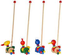 Деревянная игрушка Каталка уточка на палочке каталочка , MD 0025, 002903, фото 1