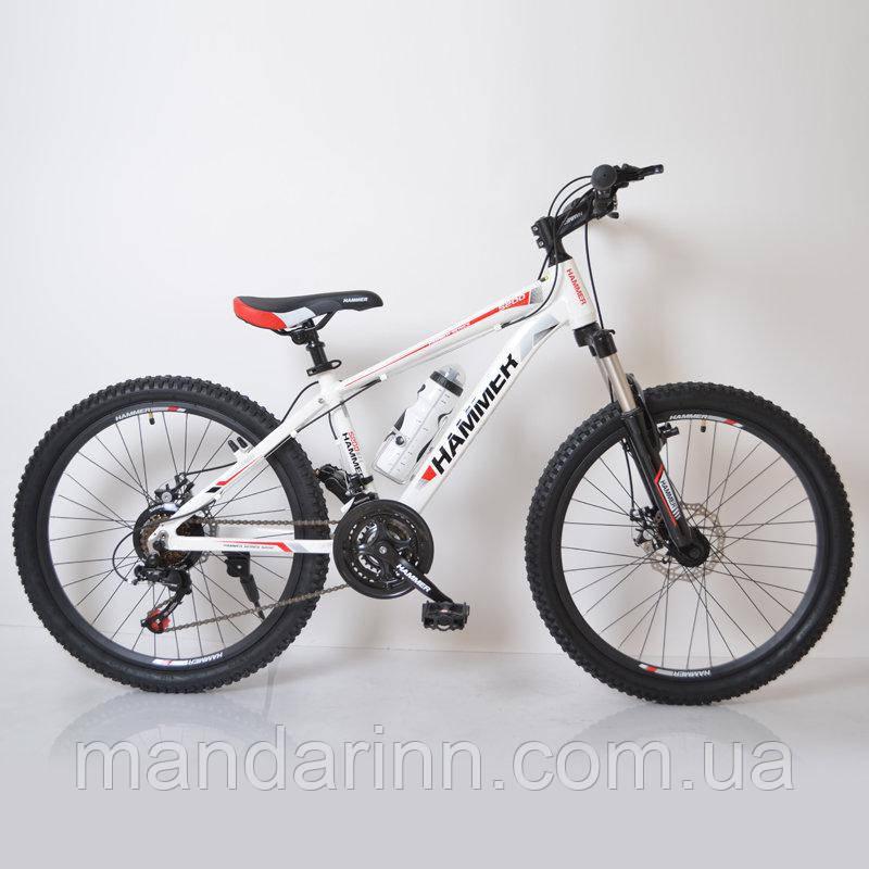 """Гірський велосипед 24"""" HAMMER Біло-Червоний (white-red)"""