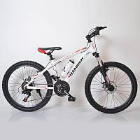 """Гірський велосипед 24"""" HAMMER Біло-Червоний (white-red), фото 1"""