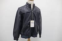 Куртка-бомбер для мальчика из искусственной кожи Bimbus итальянская синяя