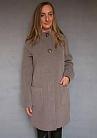 Пальто женское №51 ЗИМА (капучино) Код 661524760 4296c15544383