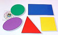 Набор простых фигур на магнитах для доски