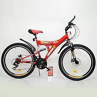 """Велосипед гірський 26"""" MAXIMA T26-726A-DBF Red, фото 1"""