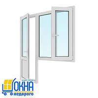 Балконный блок дверь 700*2050, окно 1150*1350 на две части одно поворотно-откидное