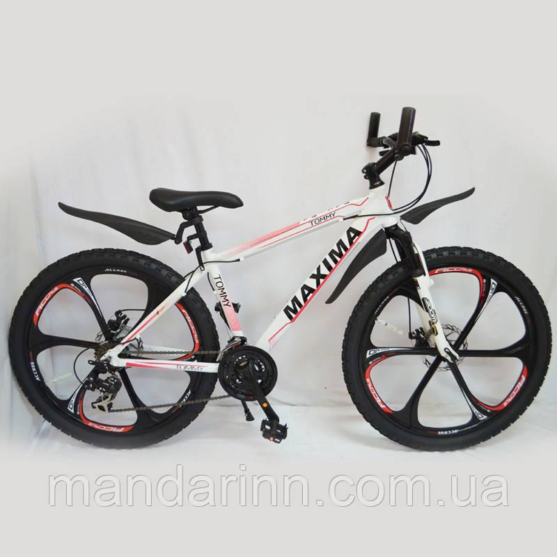 """Велосипед гірський 26"""" MAXIMA-TOMMY White"""