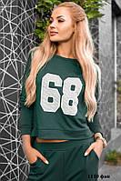 Спортивный женский костюм 1110 фан Код:569717098