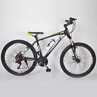 """Велосипед спортивный 26"""" HAMMER Черно-салатовый. Алюминиевая легкая рама., фото 1"""