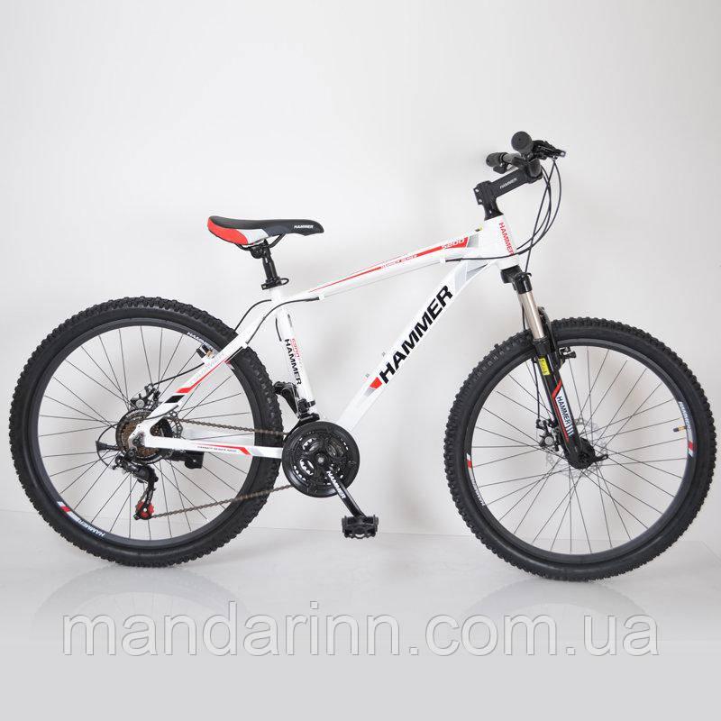 "Велосипед горный 26"" HAMMER Бело-Красный (White-Red)"