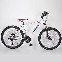"""Велосипед горный 26"""" HAMMER Бело-Красный (White-Red), фото 1"""