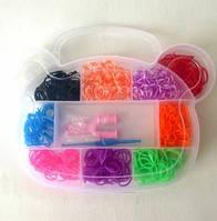 Резиночки для плетения Органайзер (500шт) Мишка