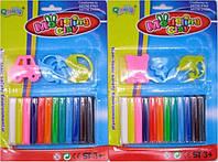 Пластилин  №1020 12цветов +3шт формы уп30