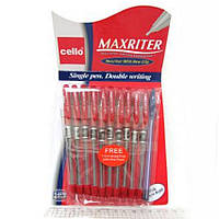 Ручка Maxriter Cello 4km 727 КРАСНАЯ толщина 0,5мм уп10 бл100
