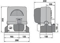 Привод для откатных ворот серии BX-74 (BX-A), фото 2