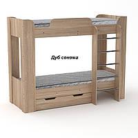 Твикс 2 Компанит Двухъярусная детская кровать с выдвижным ящиком