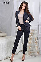 Женский брючный костюм батал 15 (92) Код:664813444