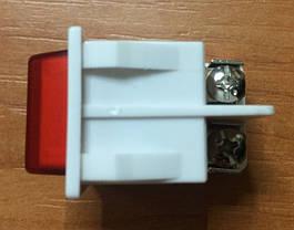 Вимикач для електроприладів з індикатором Код.55218, фото 3