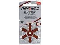 Батарейки для слуховых аппаратов Rayovac Extra Advanced 312 MF New, 6 шт.