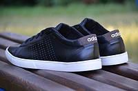 Мужские кожаные кроссовки Adidas ТОП Качество (Реплика)